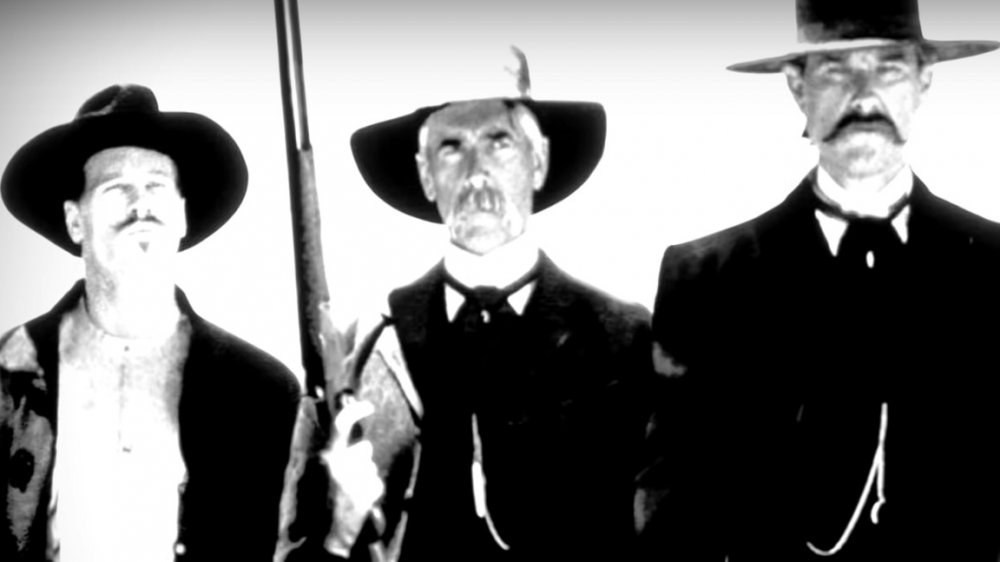 "Val Kilmer, Sam Elliott, Kurt Russel in ""Tombstone,"" Gunfight at the OK Corral"