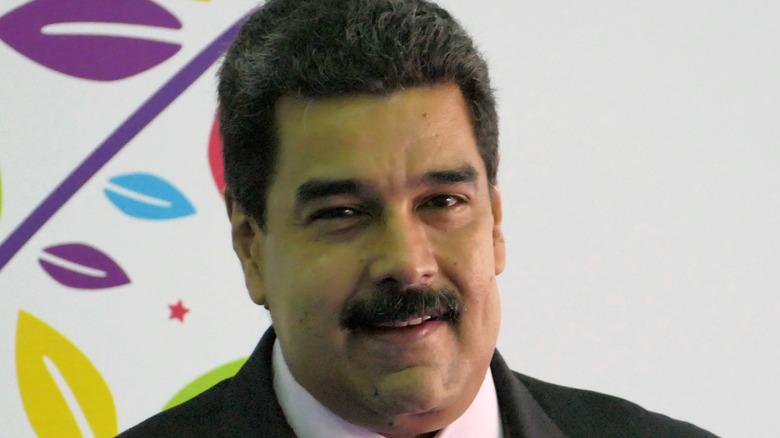 Nicolás Maduro smiling