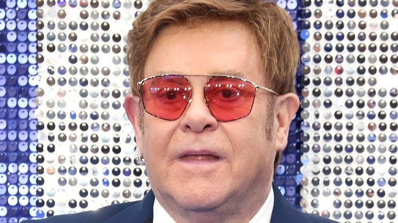 Elton John wearing sunglasses