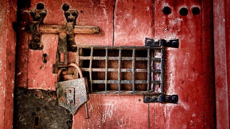hidden door padlock