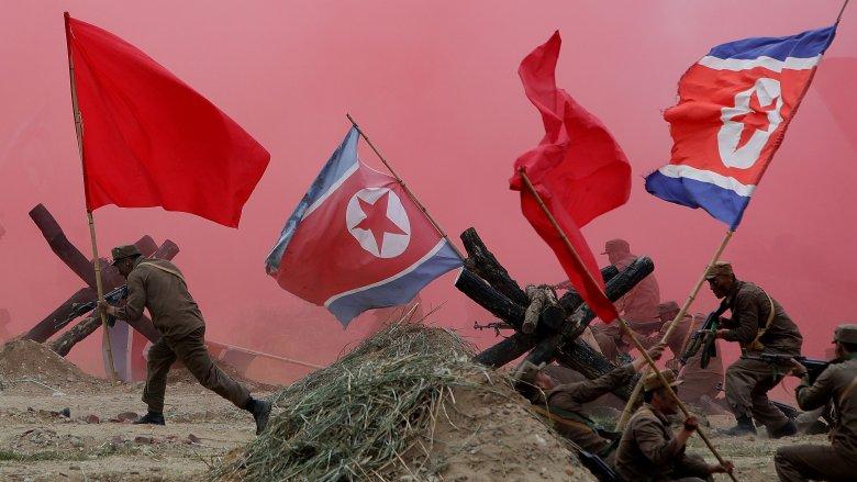 Korean War re-enactment