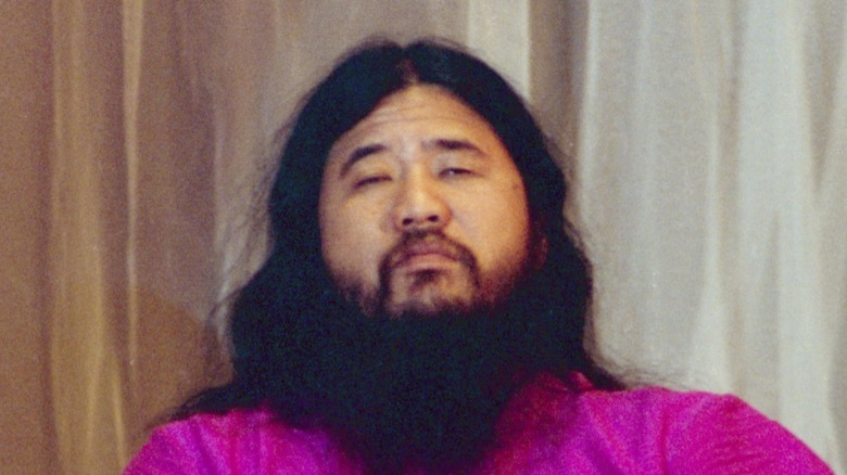 Shoko Asahara sitting