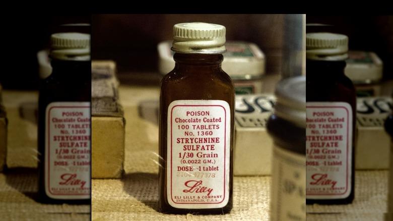 bottle of Chocolate coated strychnine