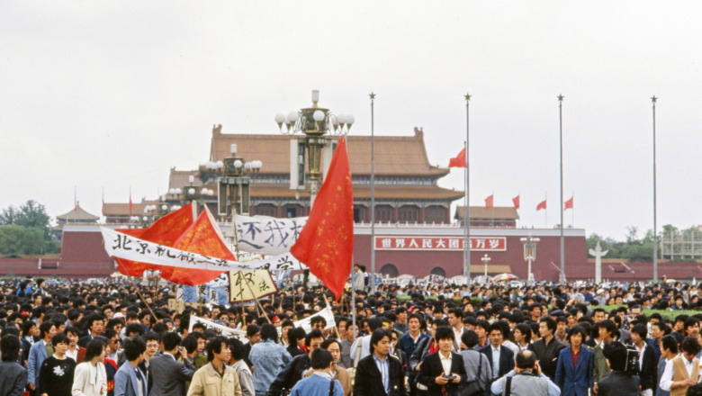 Students' protests at Tiananmen Square