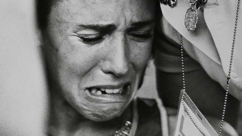 Mary Decker crying at the Olympics