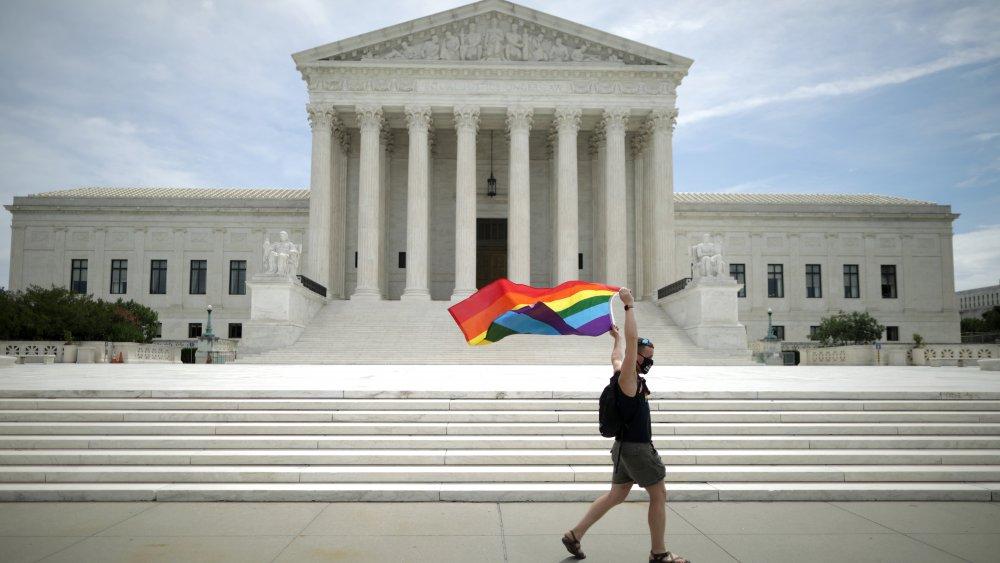 US Supreme Court Pride flag