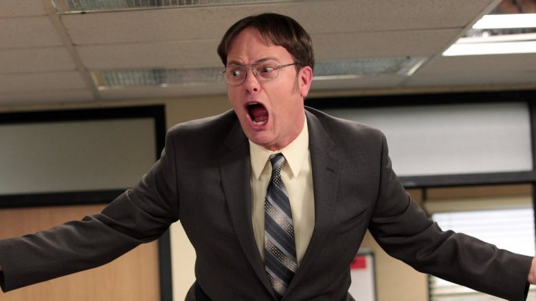 dwight screaming the office