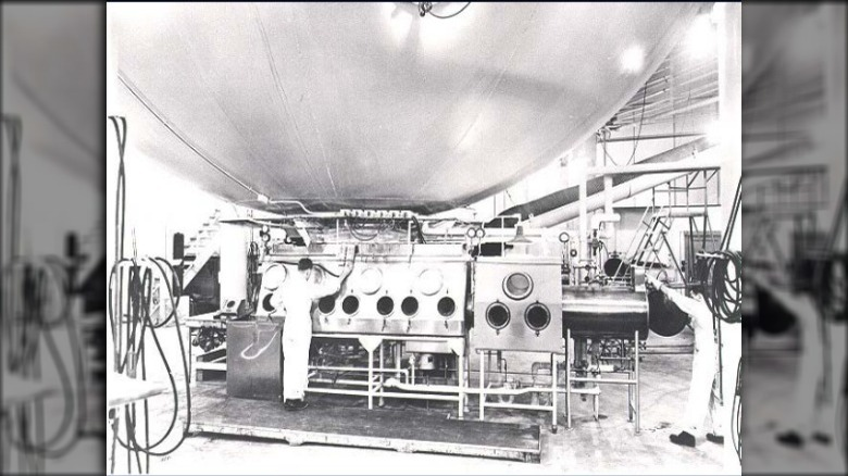 Million-liter test sphere, Fort Detrick, Maryland, USA