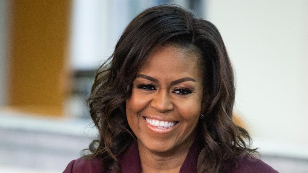 Michelle Obama smiling