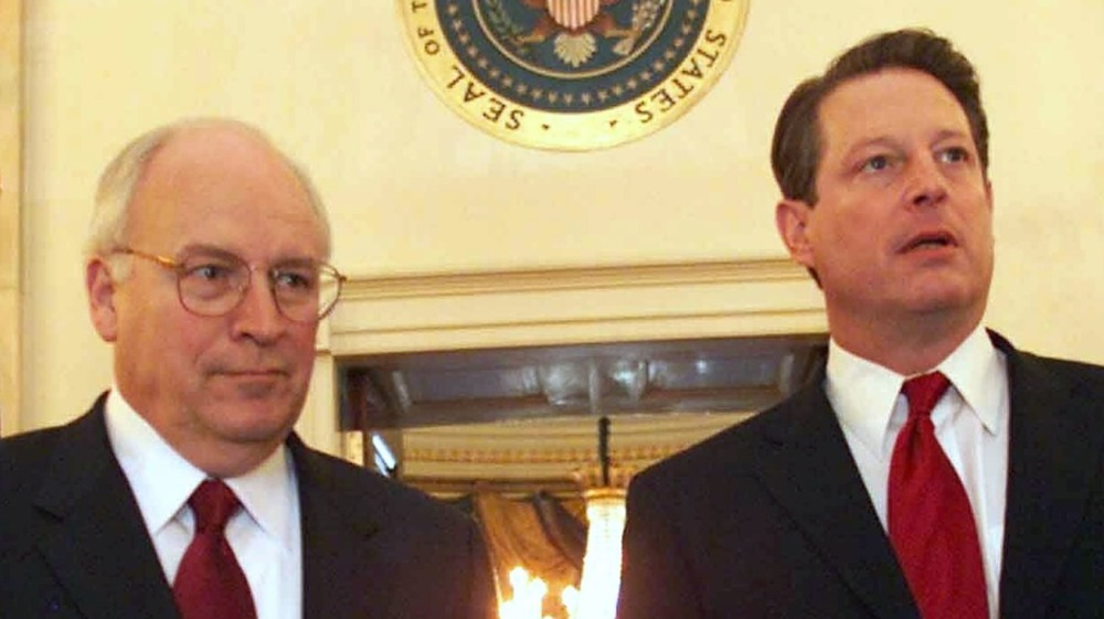 Vice presidents Cheney and Gore