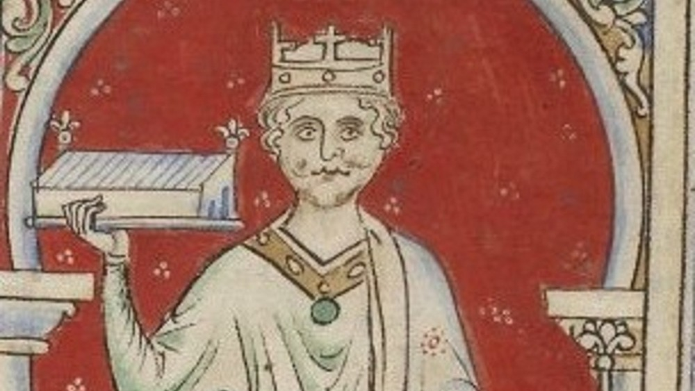 Cropped photographic reproduction of a drawing of William II of England