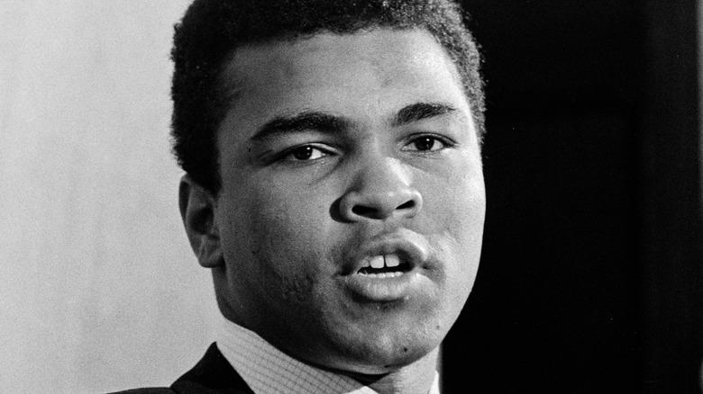 Muhammad Ali speaks at event