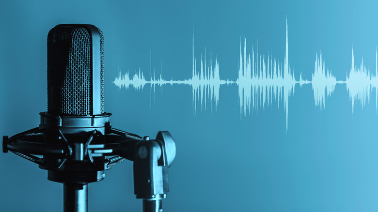 Microphone with waveforms