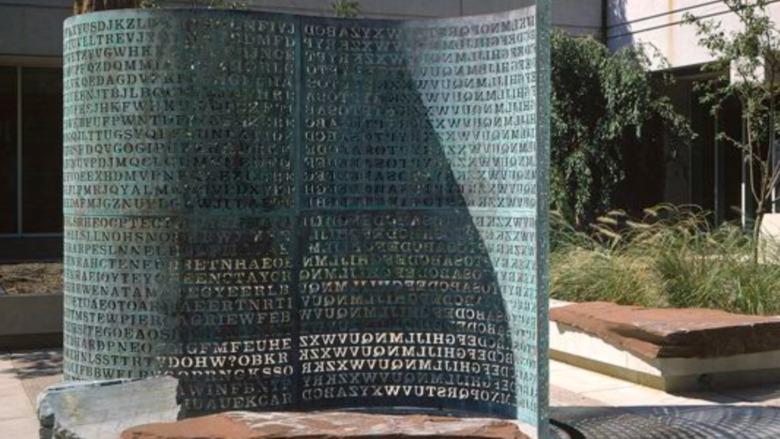 CIA sculpture Kryptos