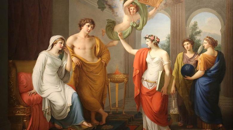 Wedding of Thetis and Peleus painting