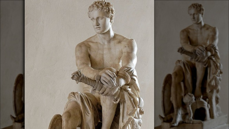 Statue of Ares with sword
