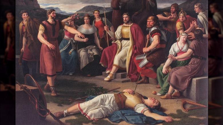 gods around balder's body