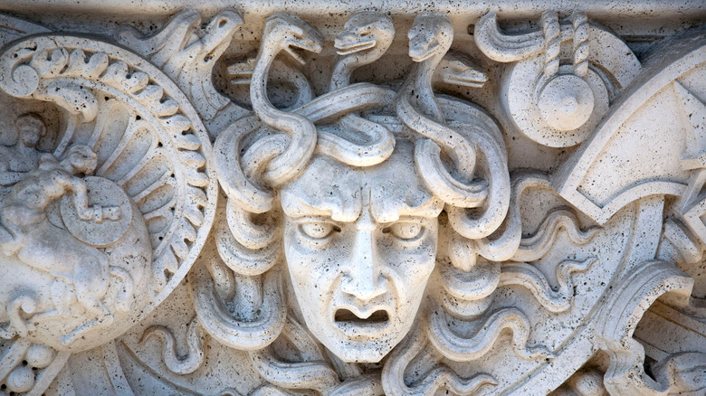 Stone  Panel of Medusa