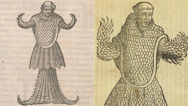 Sea monk 16th century illustrations