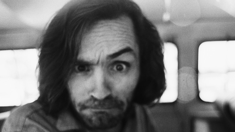 Chalres Manson on his way to court