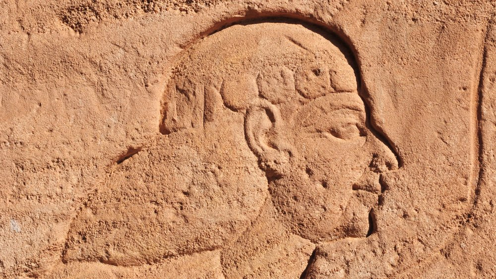 The Great Temple of Abu Simbel on the border of Egypt and Sudan