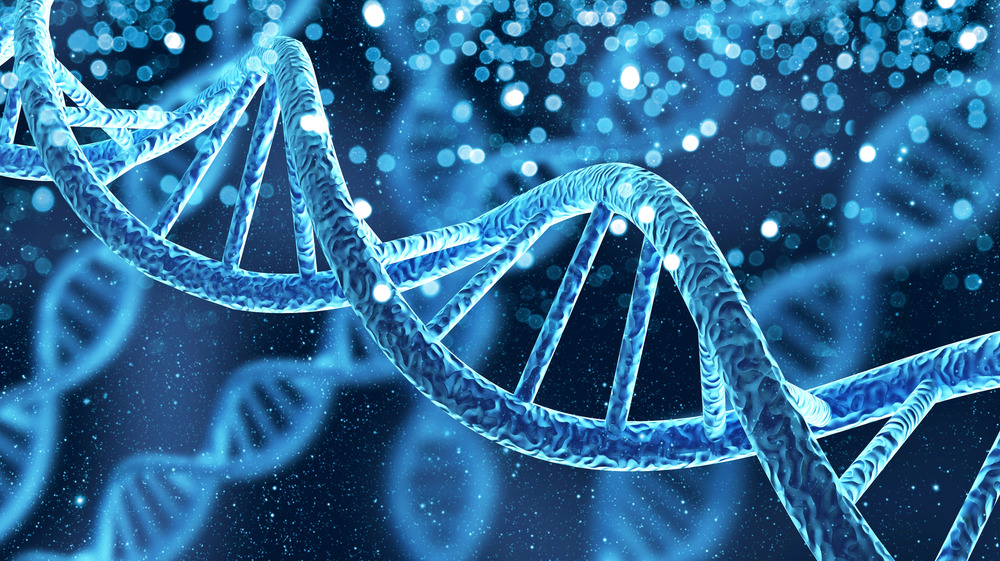 DNA sequence in blue
