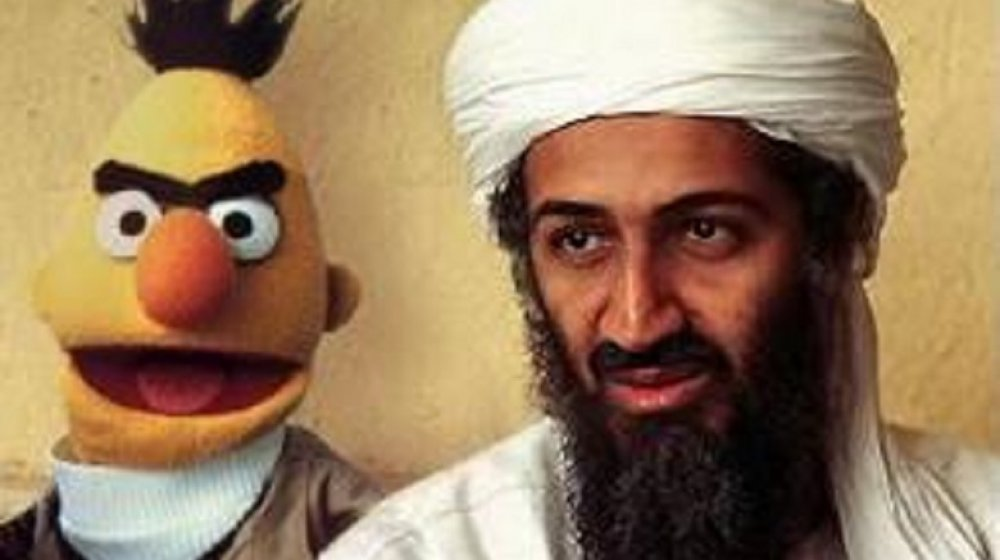 Bert is Evil, meme, Osama bin Laden