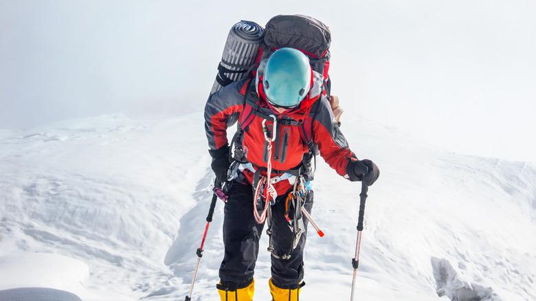 climber trekking on Everest