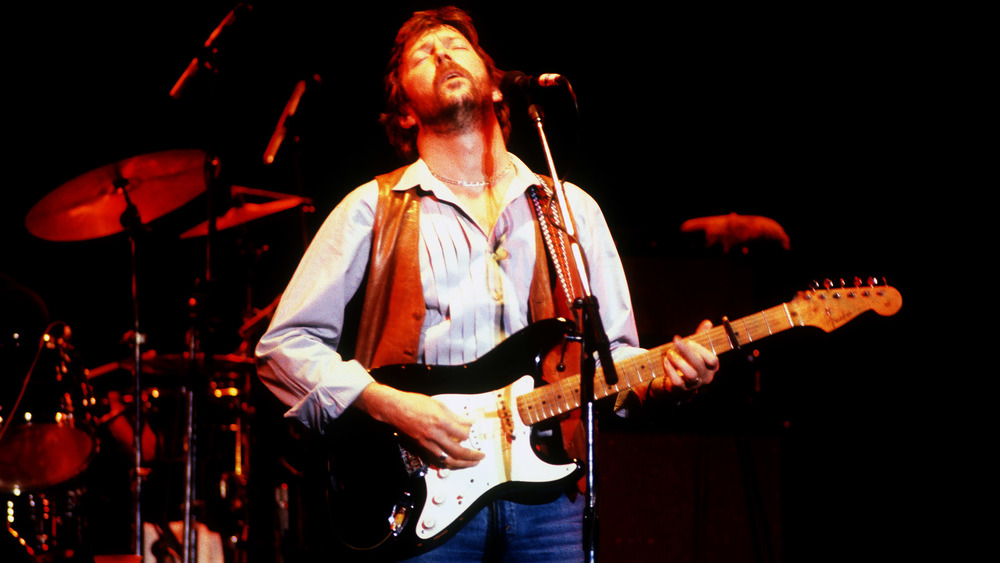 Clapton on stage, 1970s