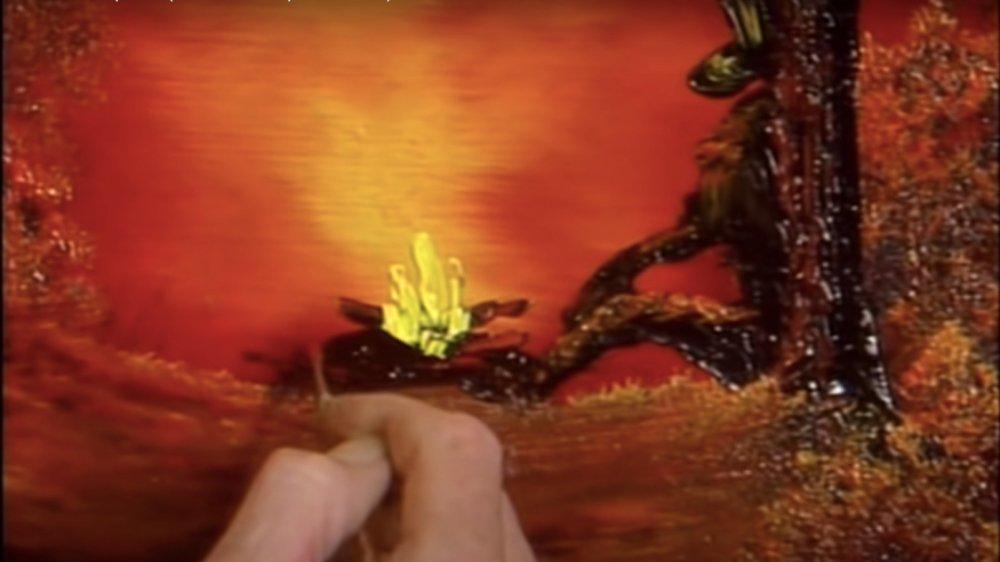 cowboy campfire painting