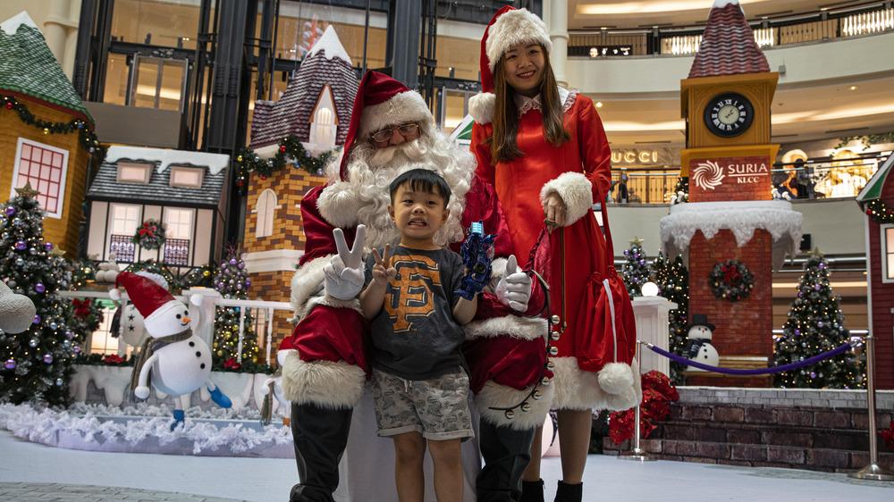 Mall Santa with child
