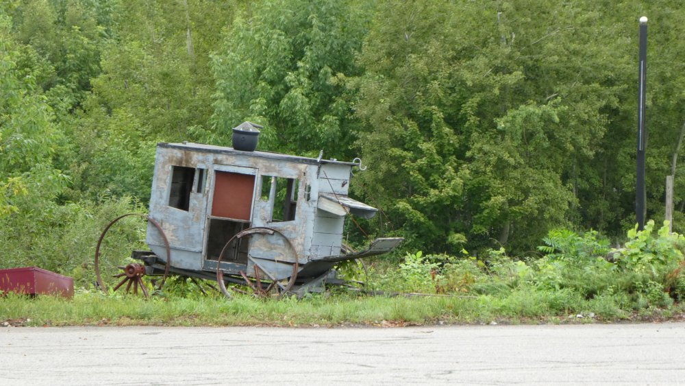 Abandoned stagecoach