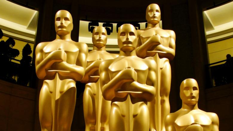 Five Oscar statues