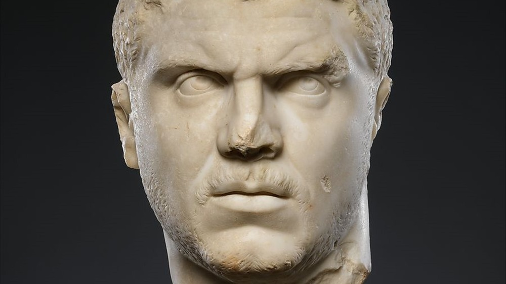 A bust of Caracalla eternally glares inside the Met