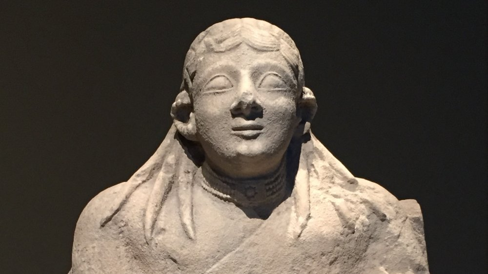 Limestone figure from Cyprus probably showing the goddess Astarte, around 600 BCE