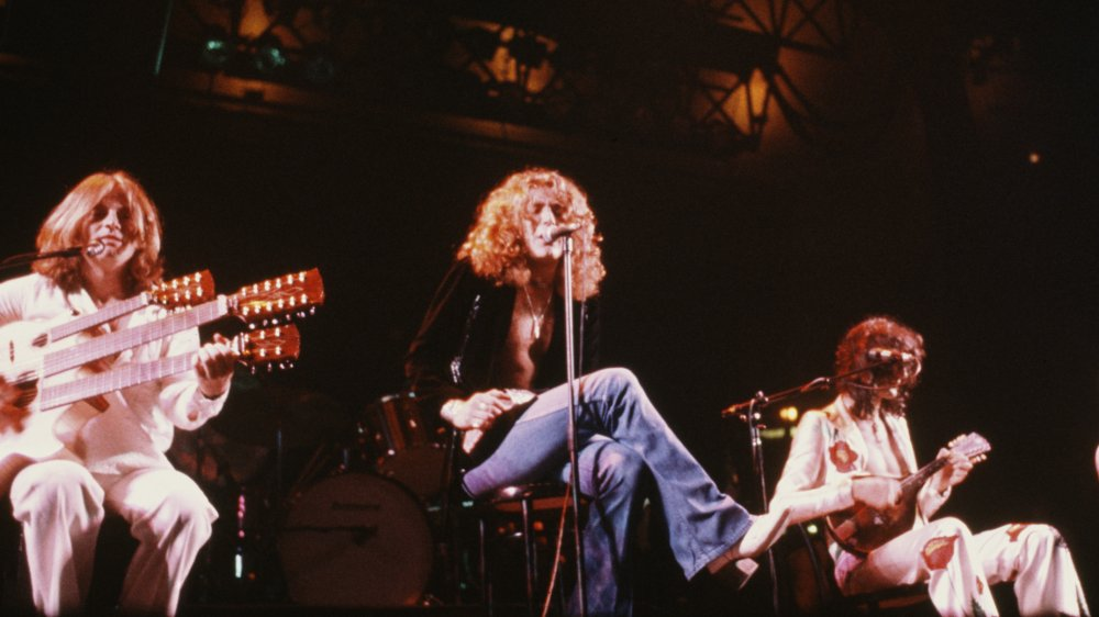 Led Zeppelin performing in 1977