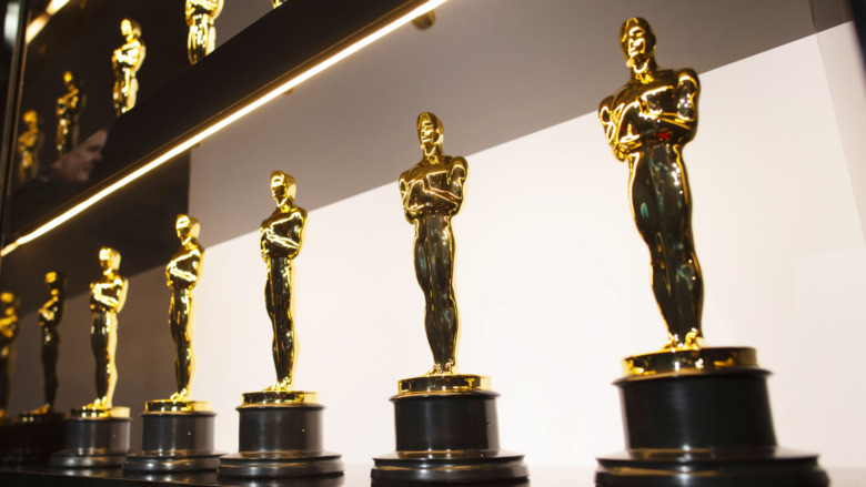 oscar statues on display