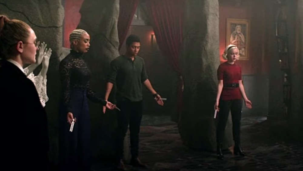 Sabrina and crew conjuring witches