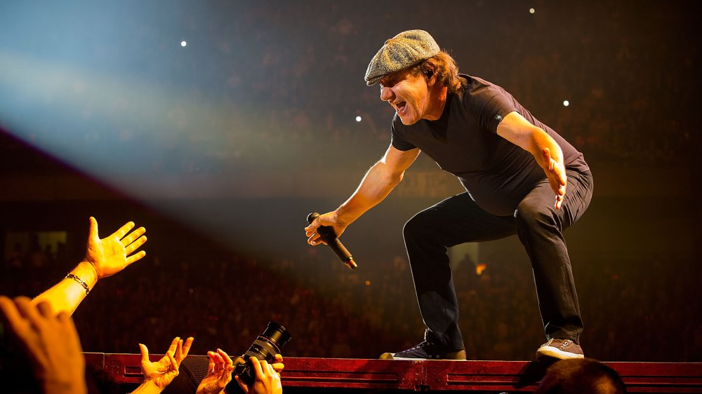 Brian Johnson playing for the camera
