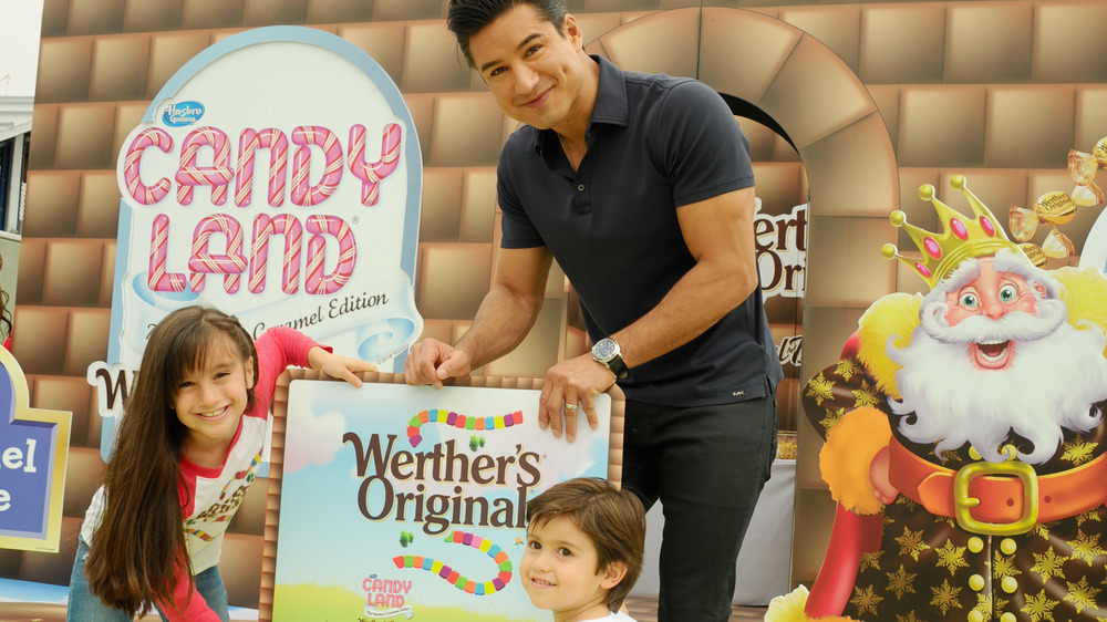 Mario Lopez kids in Candy Land