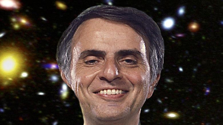 Carl Sagan smiling