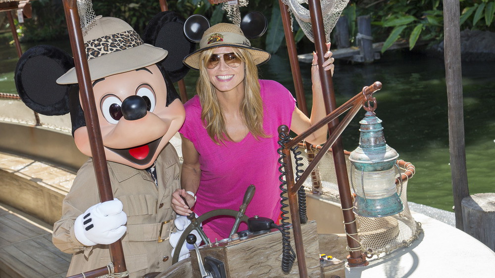 Heidi Clum with Mickey Mouse