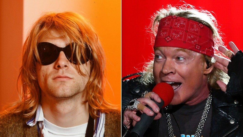 Kurt Cobain and Axl Rose