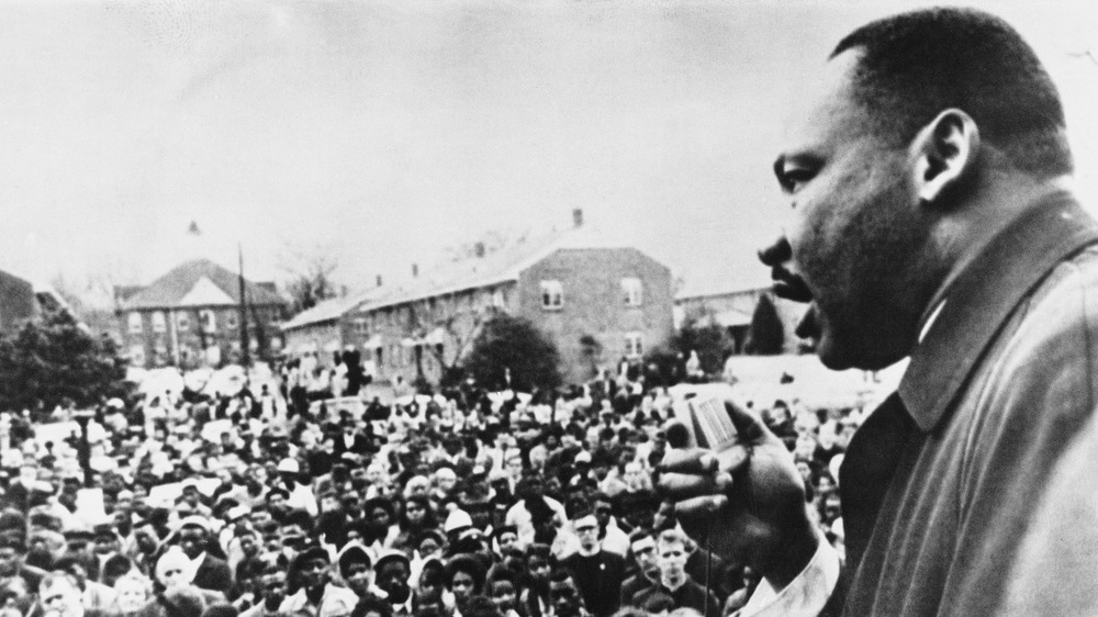 Martin Luther King at rally