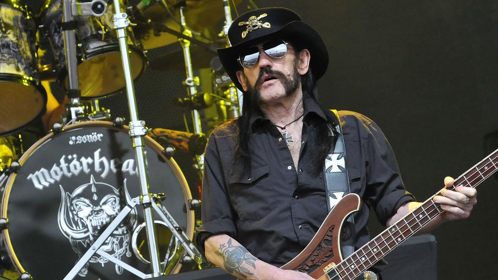 Lemmy of Motörhead performs at Glastonbury in 2015