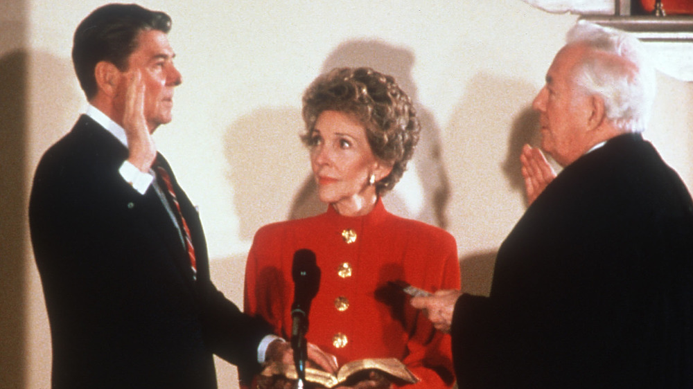 Ronald Reagan sworn in