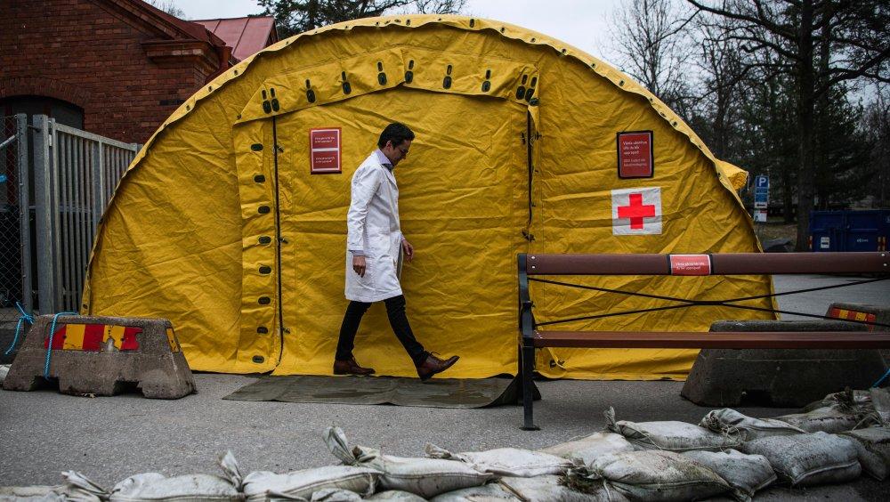 Swedish coronavirus testing tent