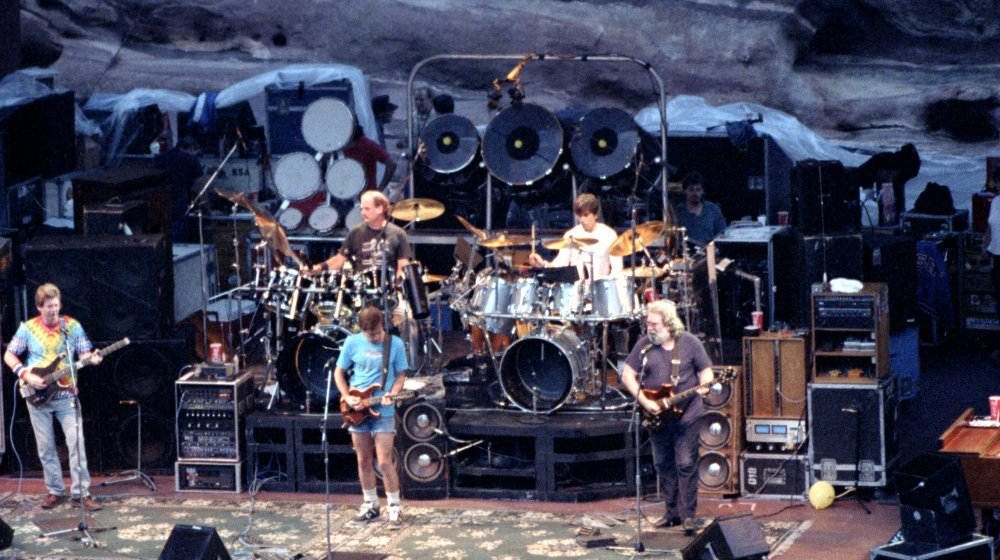 The Grateful Dead performing at Red Rocks in 1987