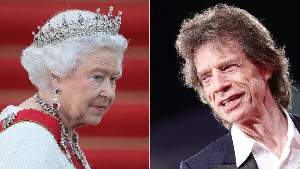 Queen Elizabeth II and Mick Jagger