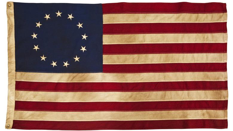 Original American flag with 13 stars